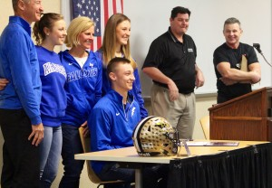 Grant Theil before he signed with The Air Force.